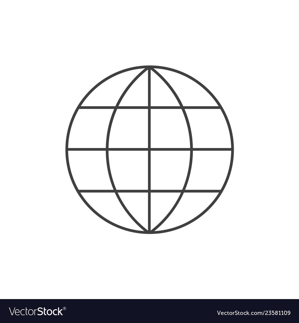 Global line icon