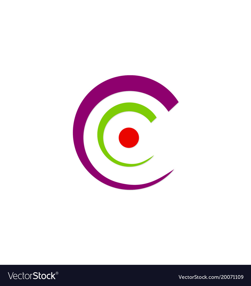Letter c abstract circle logo