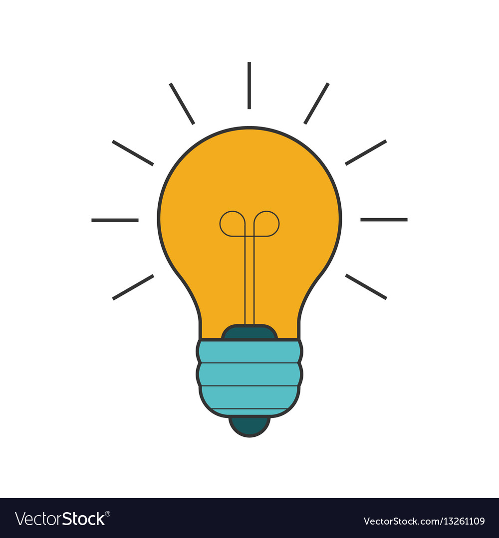 Lightbulb flat line icon