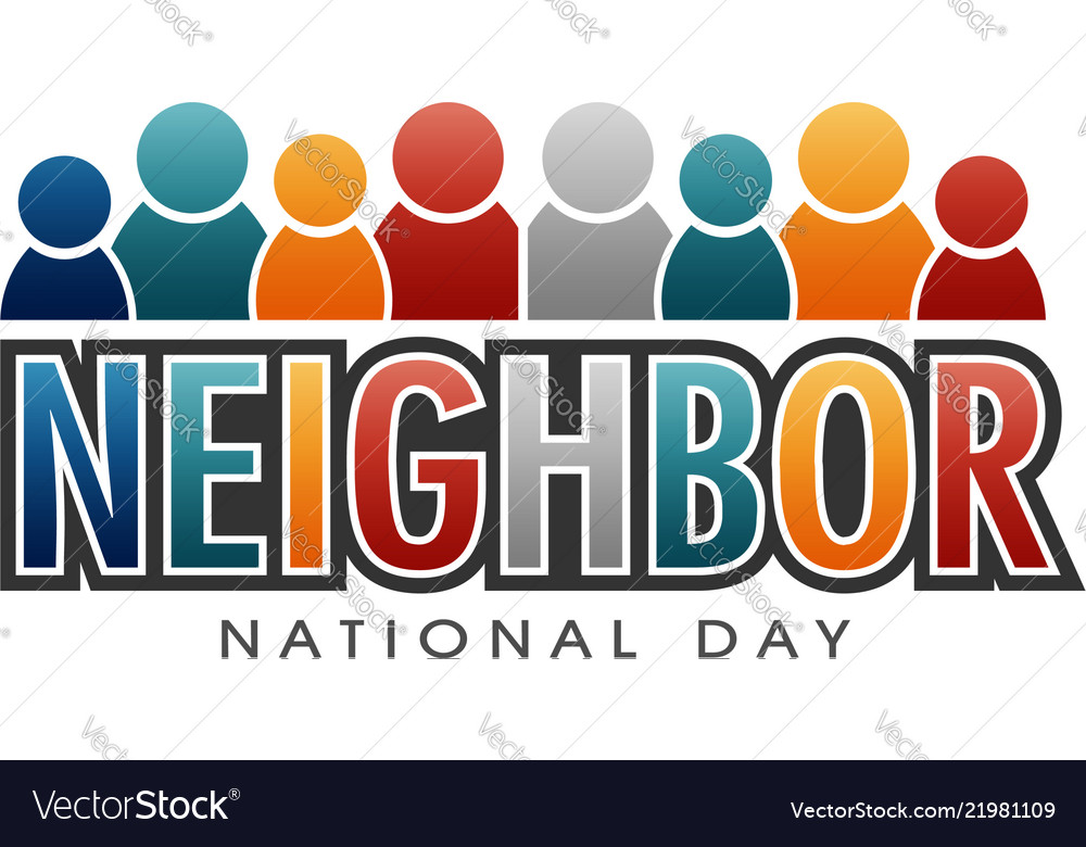 Neighbor national day letters and people