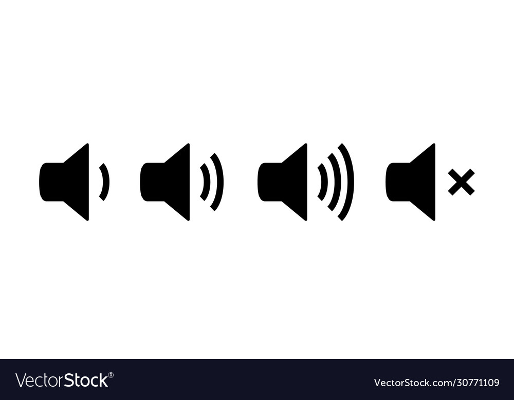 Sound Icon Speaker Volume Audio Volume Royalty Free Vector Over 45 sound icon png images are found on vippng. vectorstock