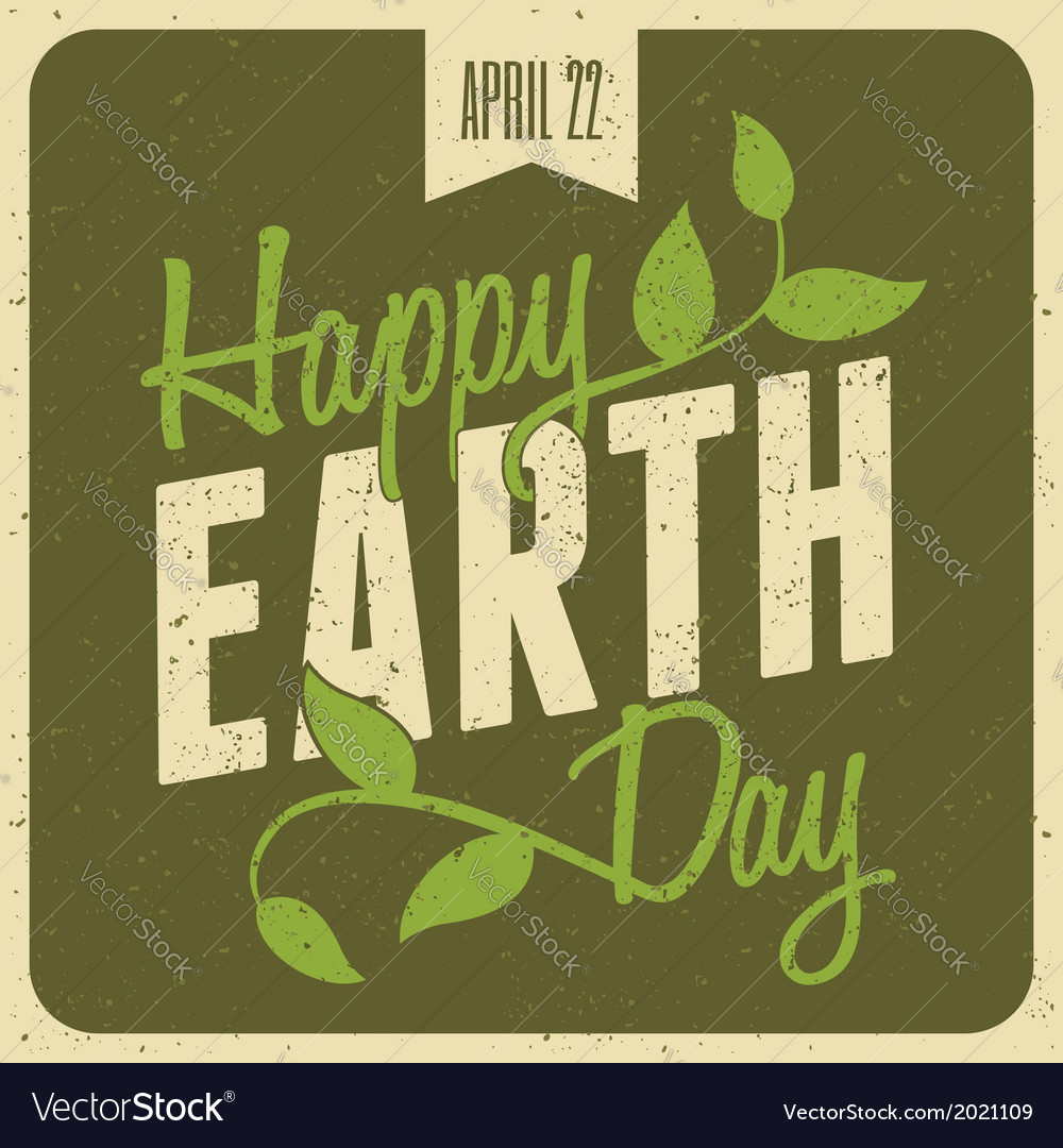Typographic design poster for Earth Day