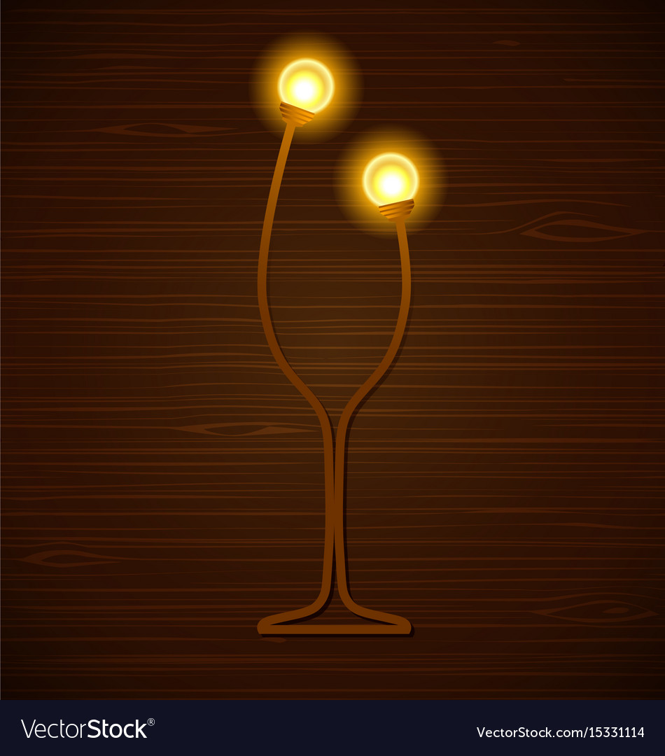 Abstract wine glass