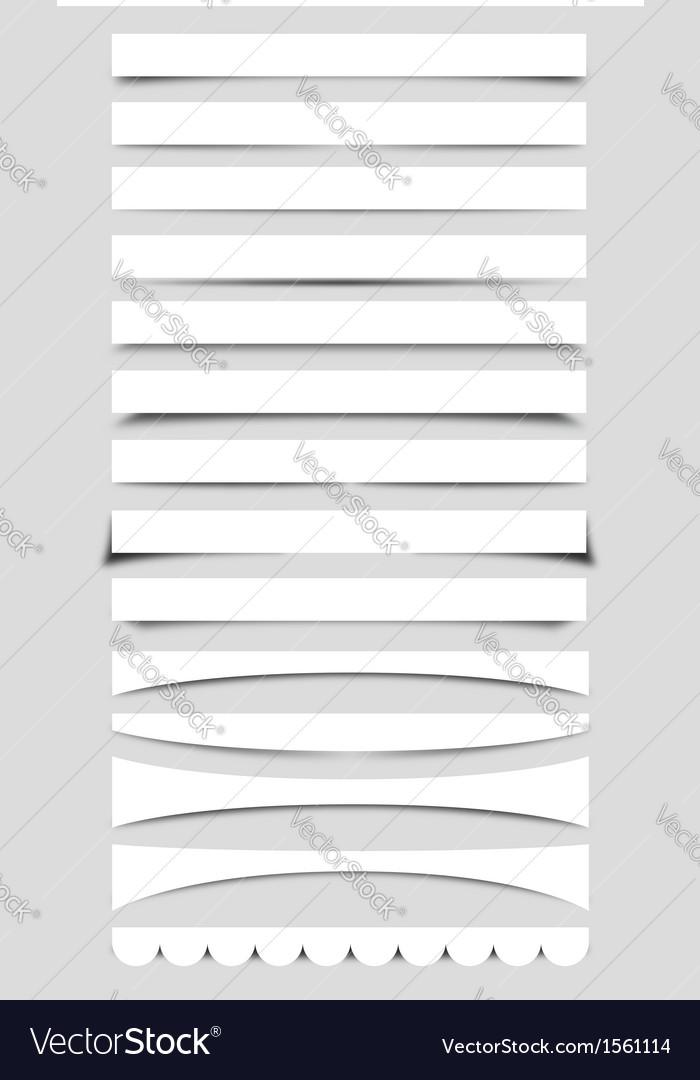 Collection of Box Shadows vector image