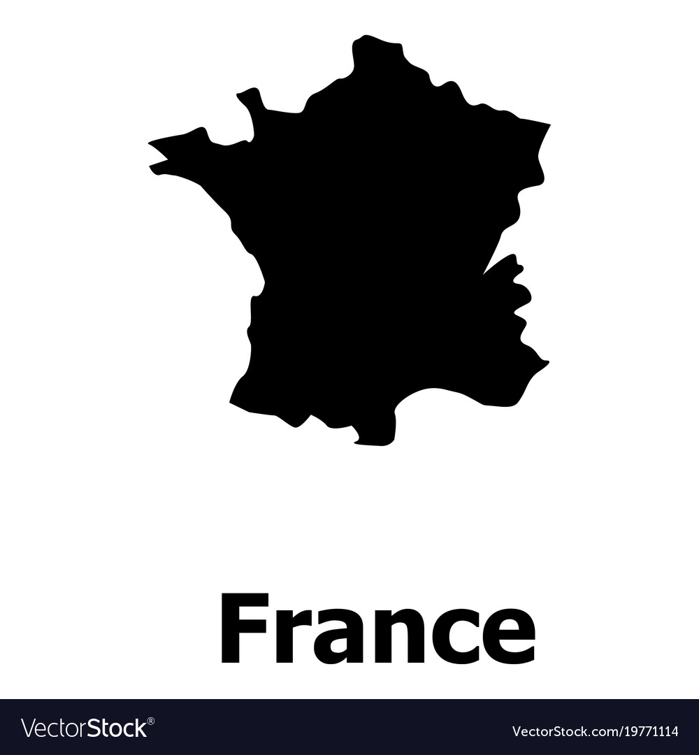 france map icon simple style royalty free vector image