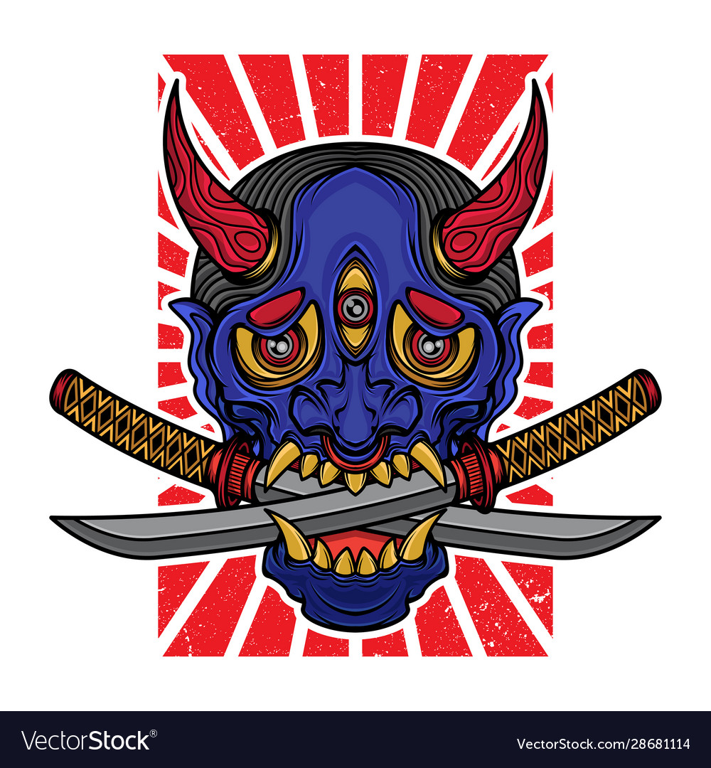 Hannya mask t shirt design