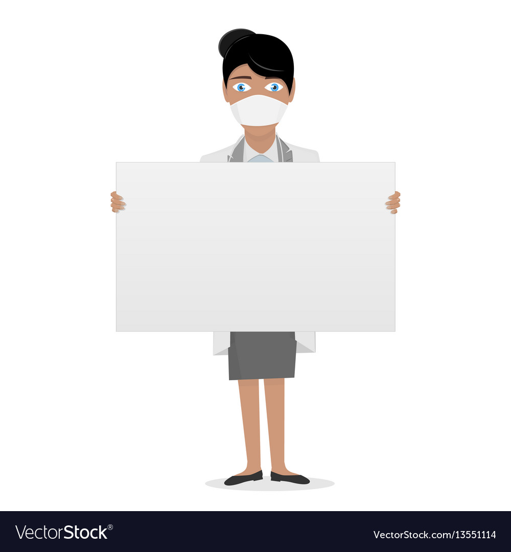 Nurse in a white lab coat medical staff the