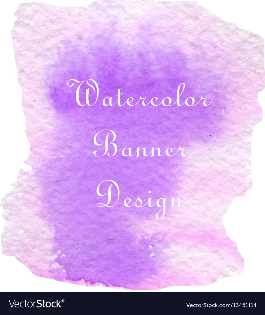 Purple pink watercolor