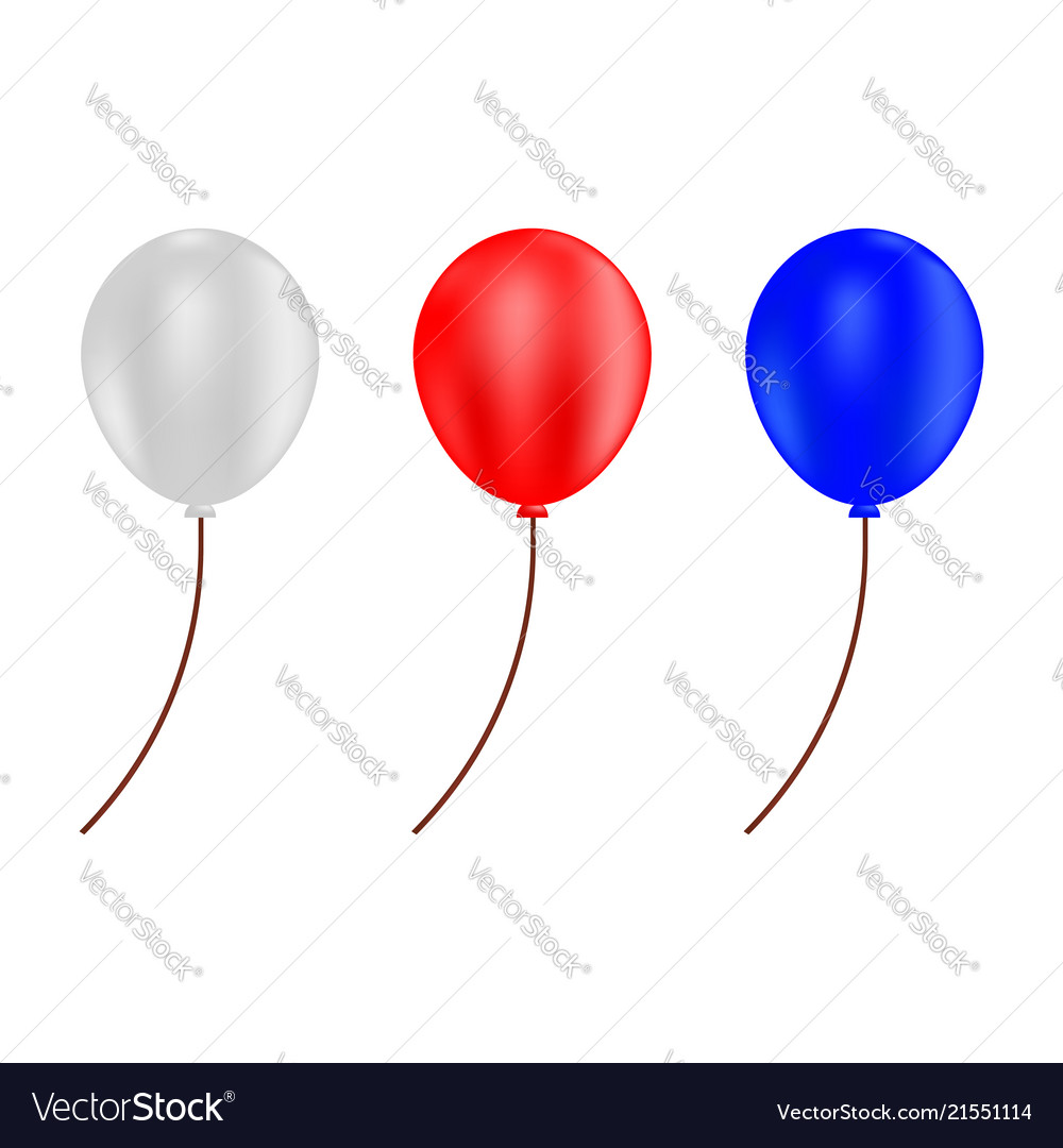 Red blue and white balloons