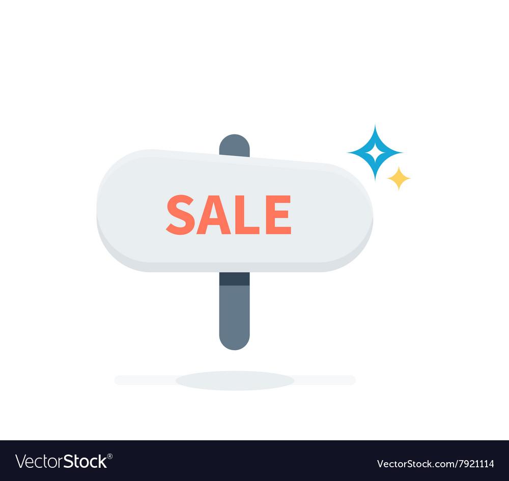 Sale Badge Signboard Design Flat