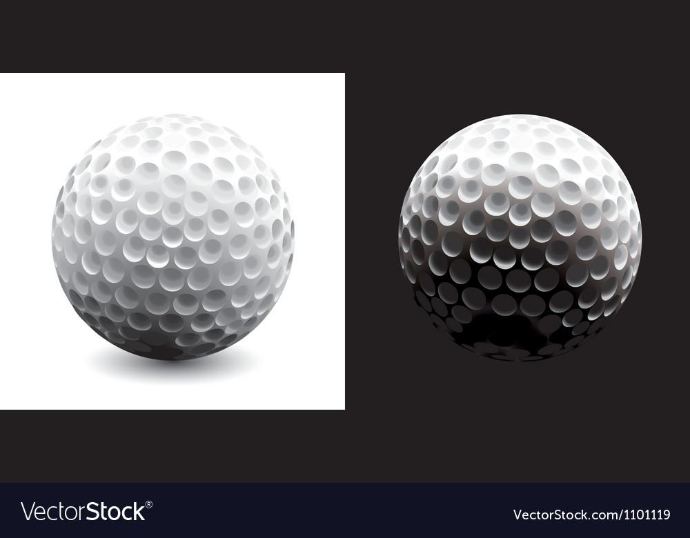 A close-up of a golf ball over dark background