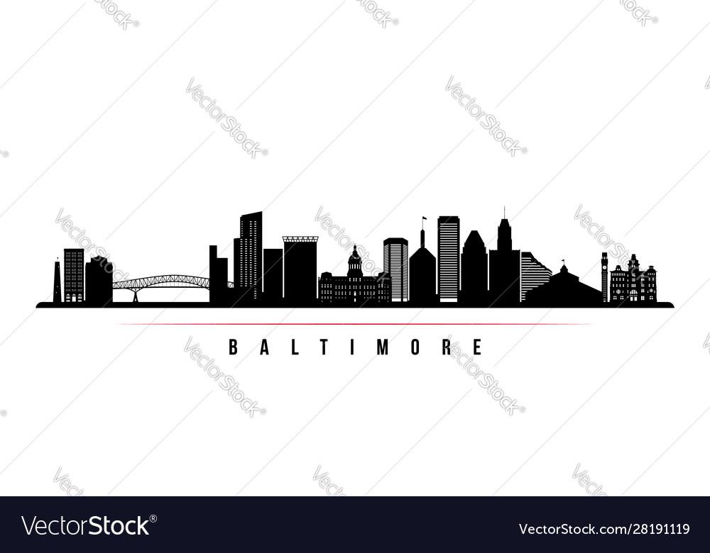 Baltimore skyline horizontal banner