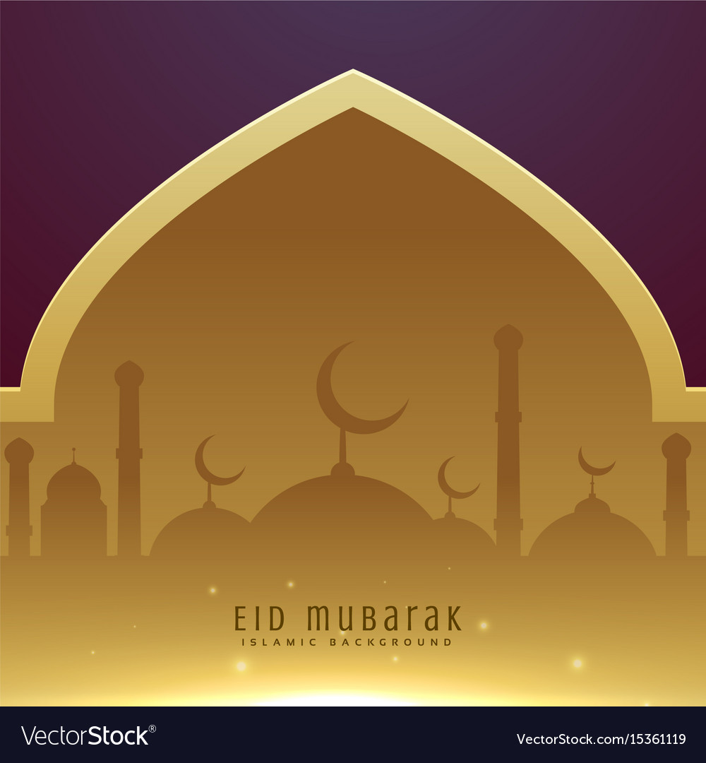 Beautiful muslim eid festival greeting design