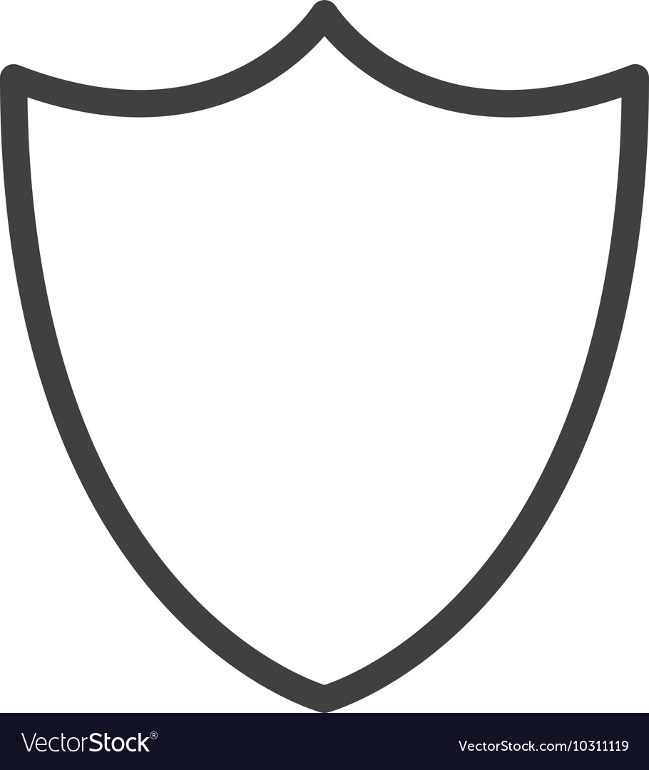 blank shield icon royalty free vector image vectorstock