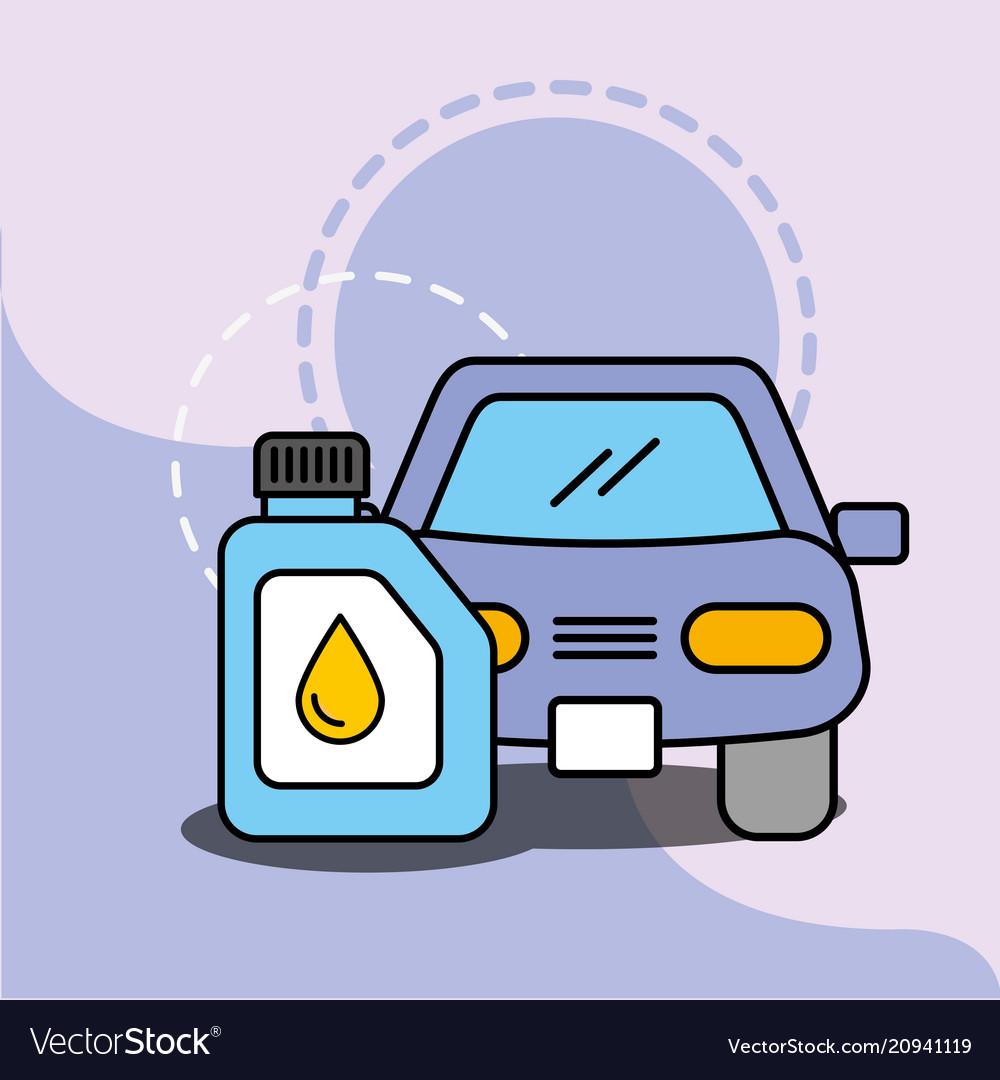 Car service maintenance vehicle engine oil
