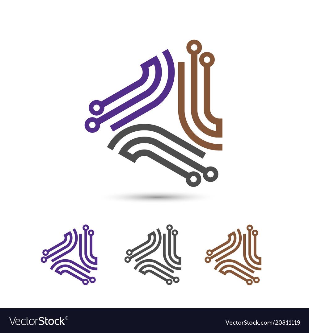 Digital electronics logo design
