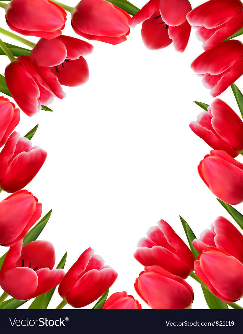 Red fresh spring flowers background royalty free vector red fresh spring flowers background vector image mightylinksfo
