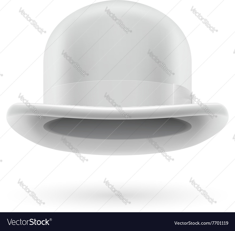 White bowler hat vector image