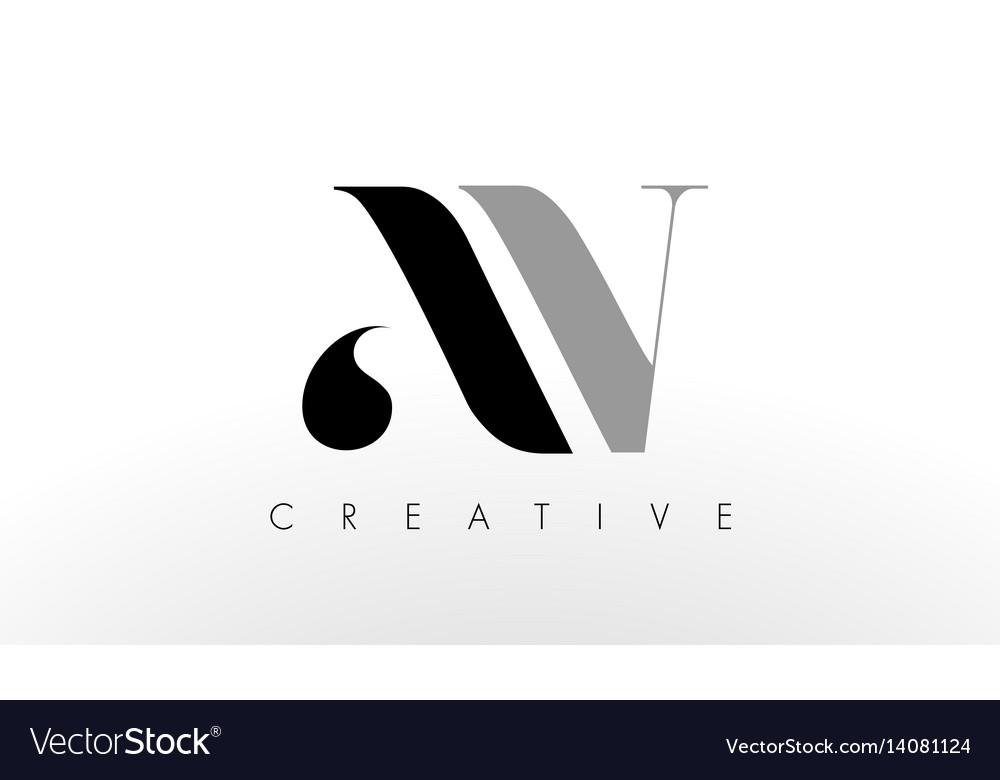 A v letter logo design creative av letters icon