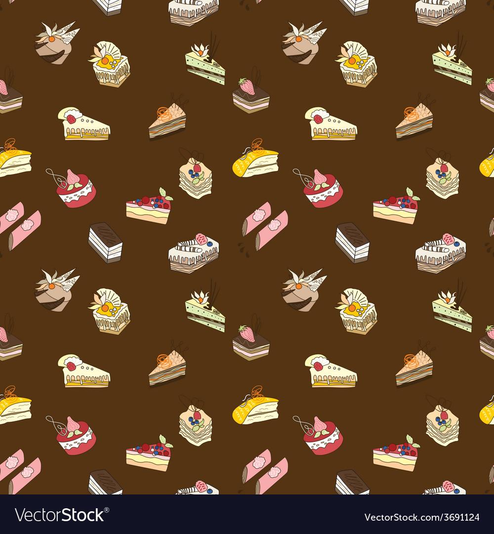 Brown sweet cake pattern