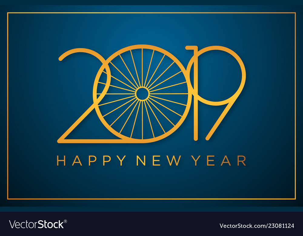 classy 2019 happy new year background vector image