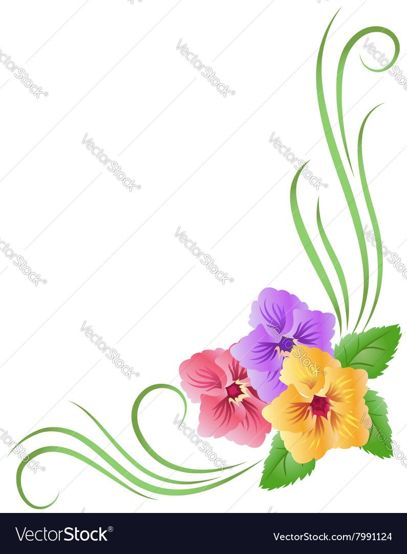 corner floral ornament royalty free vector image vectorstock