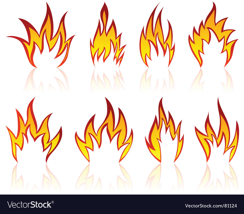 Flame Template For Children Flame designs vector