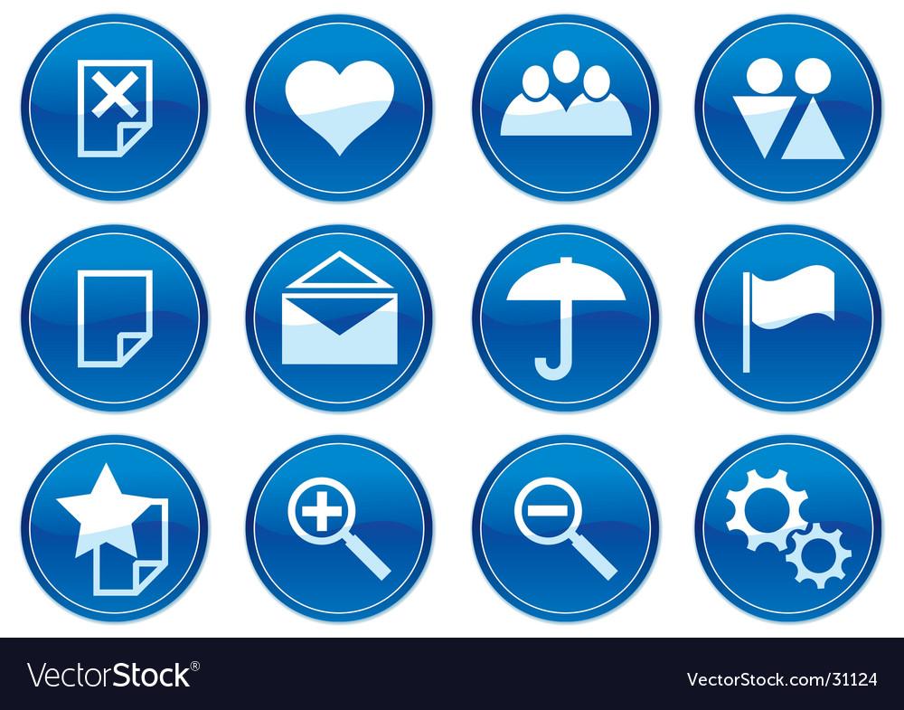 Gadget icons Royalty Free Vector Image - VectorStock
