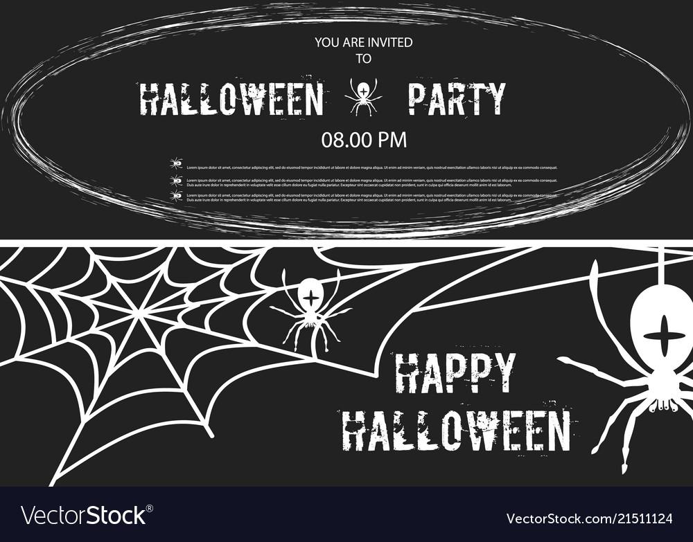 Happy halloween banner set of design