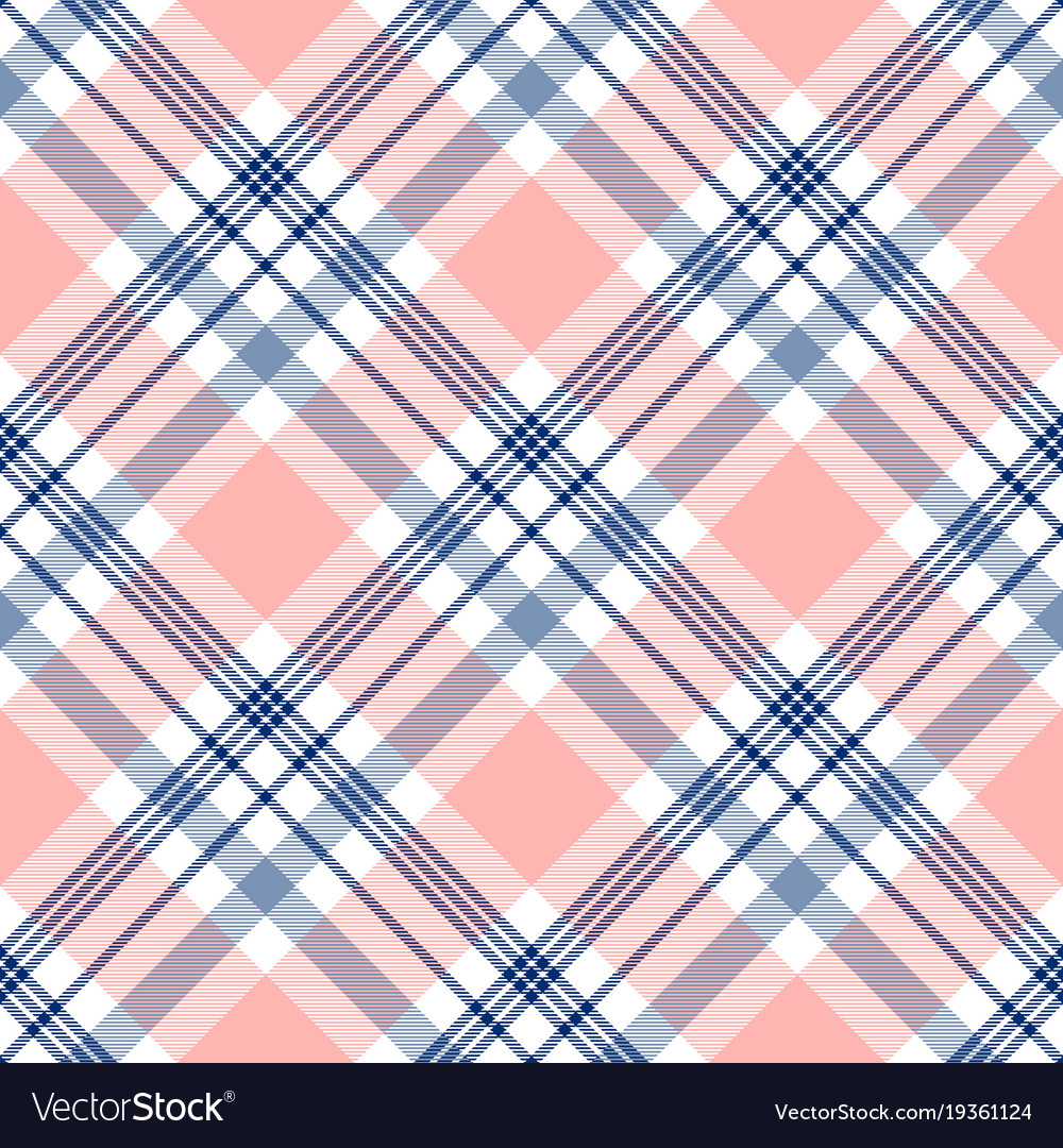Plaid check pattern in navy blue pink and white