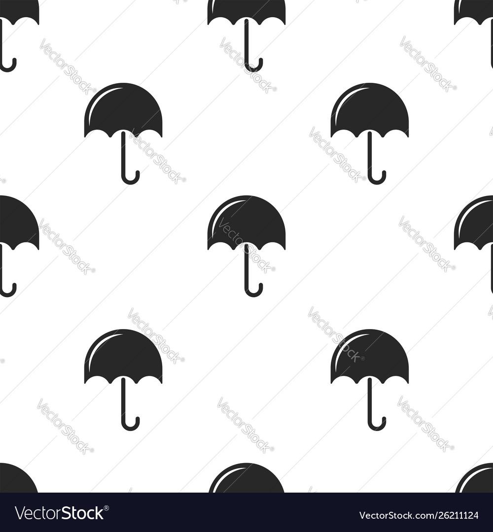 Repeating seamless pattern black umbrellas on