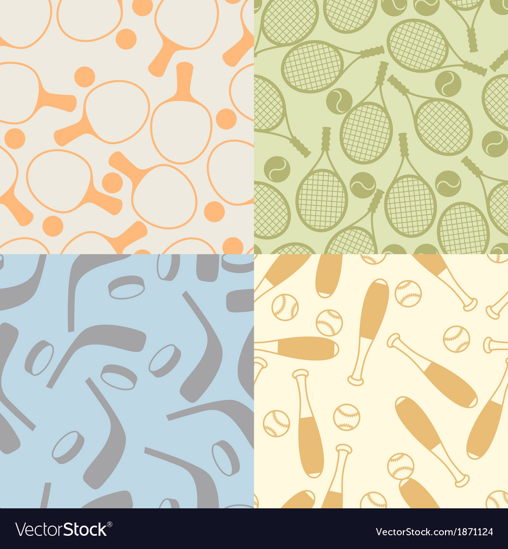 Seamless patterns of sport icons