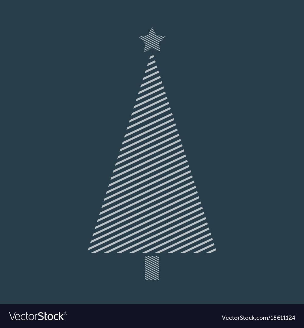 Stripped christmas tree