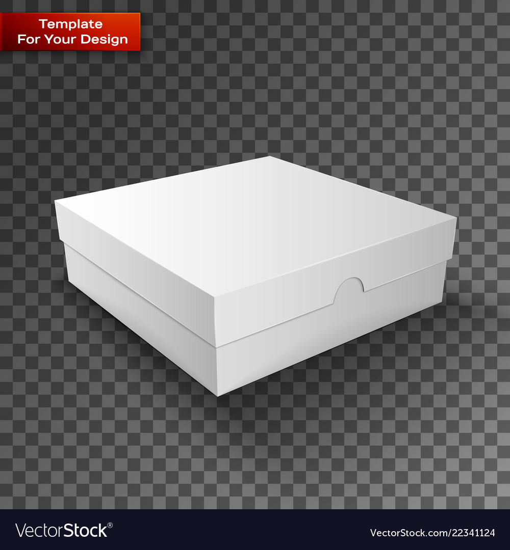 White product package box