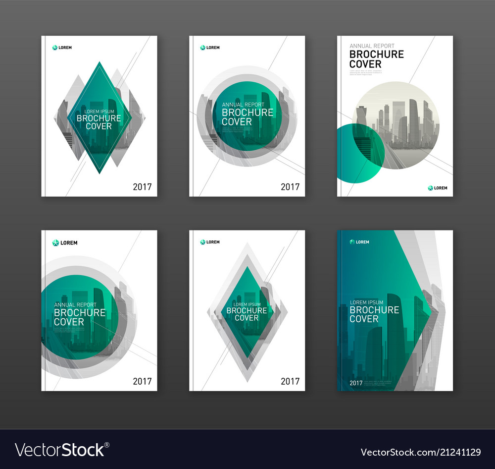 Brochure cover design layouts set for business