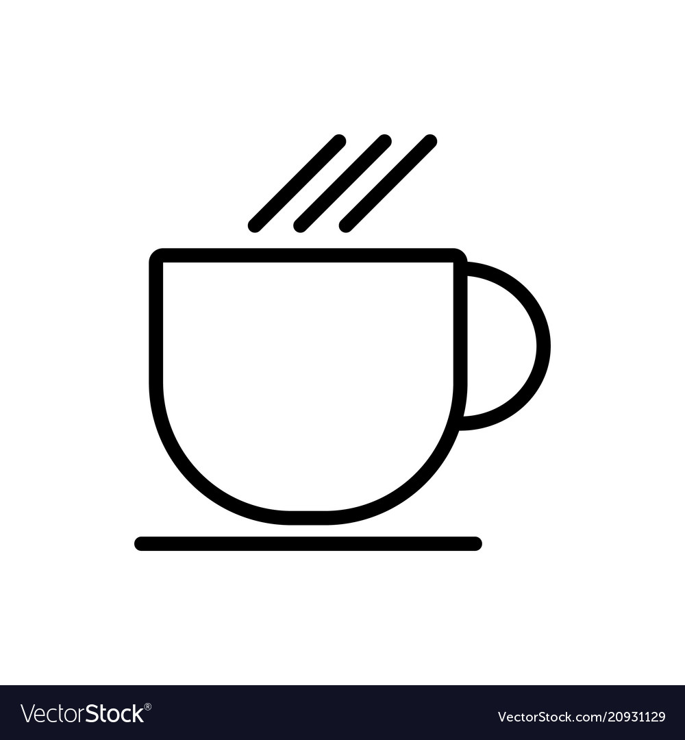 Cup line icon simple minimal 96x96 pictogram