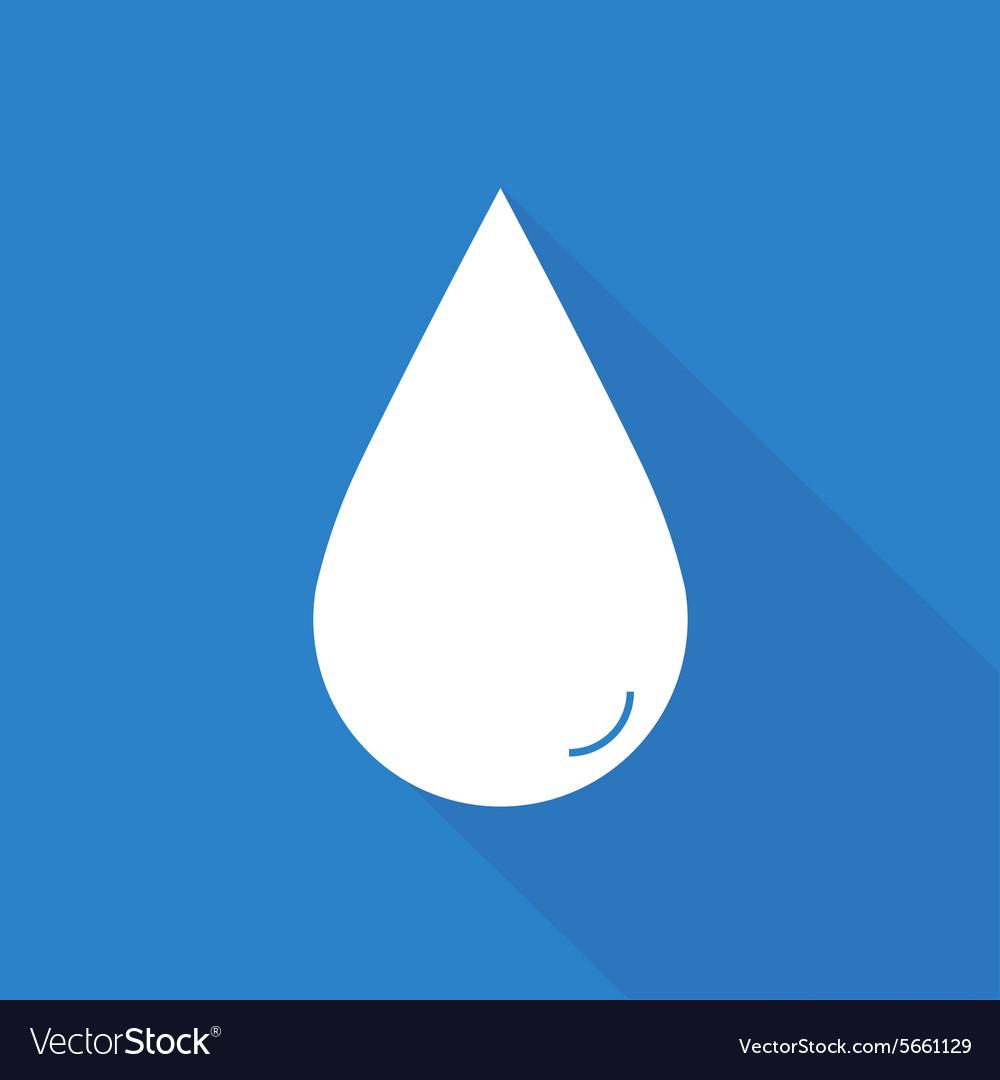 Flat water drop