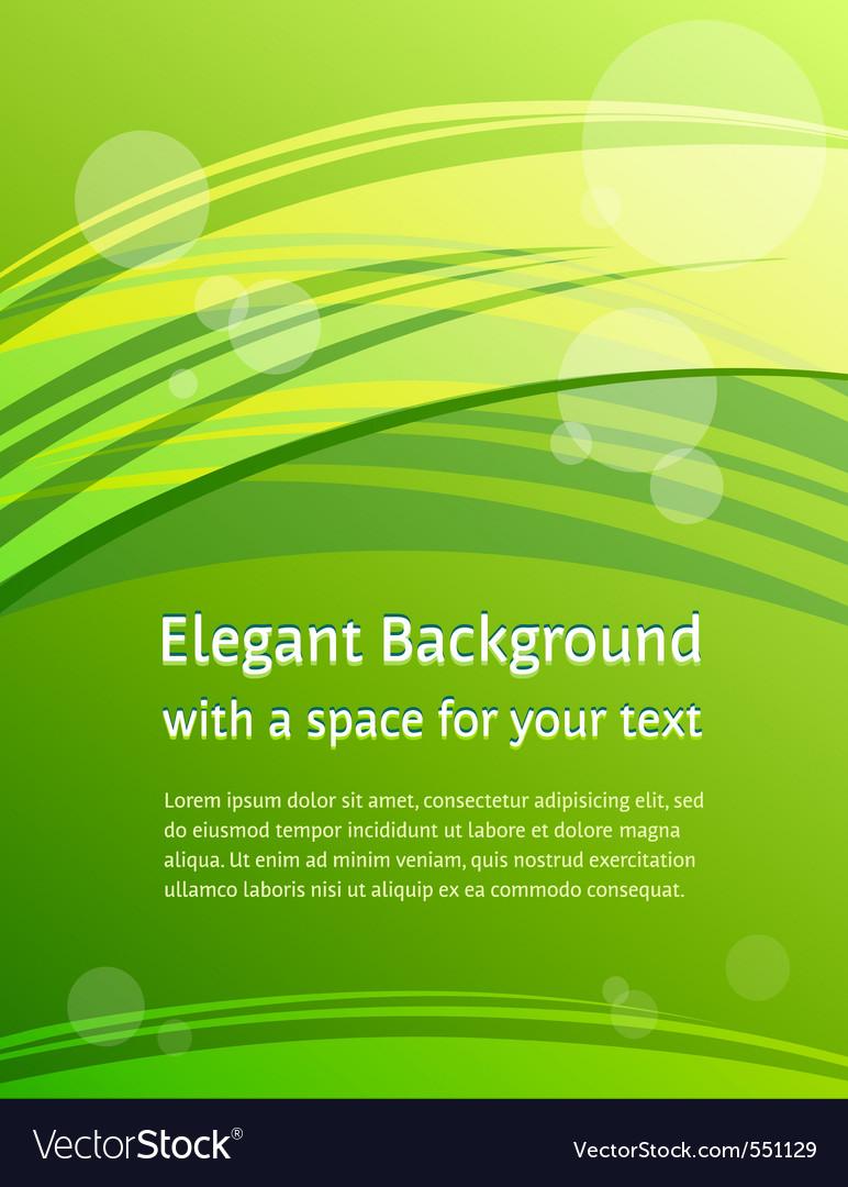 Green brochure design vector image