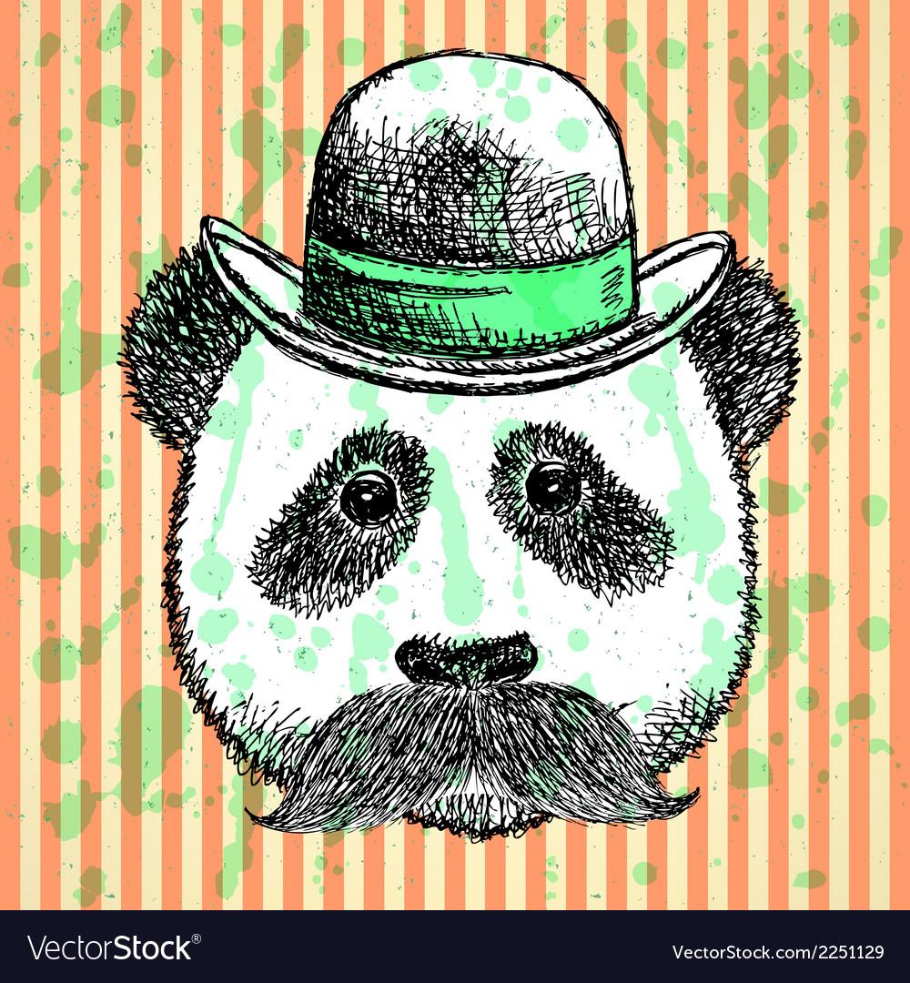 Hat Panda Mustache
