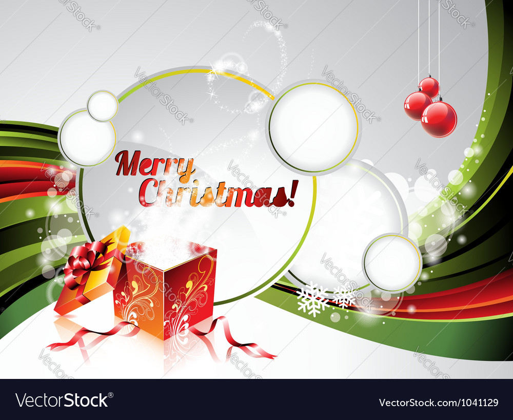 Holiday on a christmas theme with mag vector image