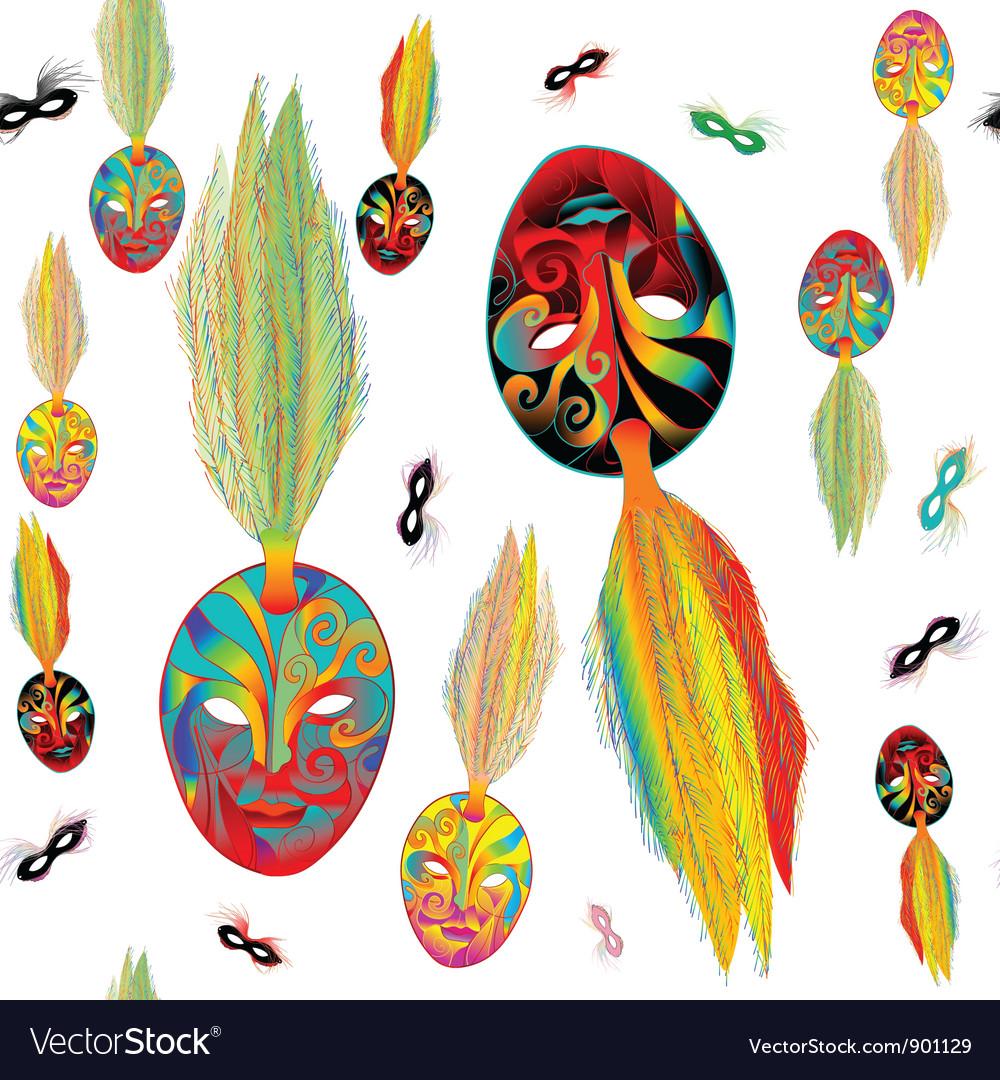 Mardi gras pattern vector image