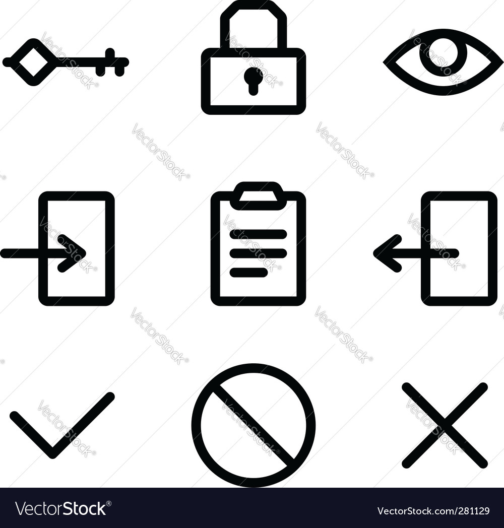 Security Icons Vector. Artist: furtaev; File type: Vector EPS