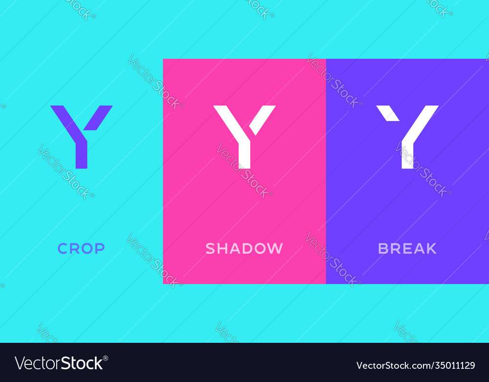Set letter y minimal logo icon design template