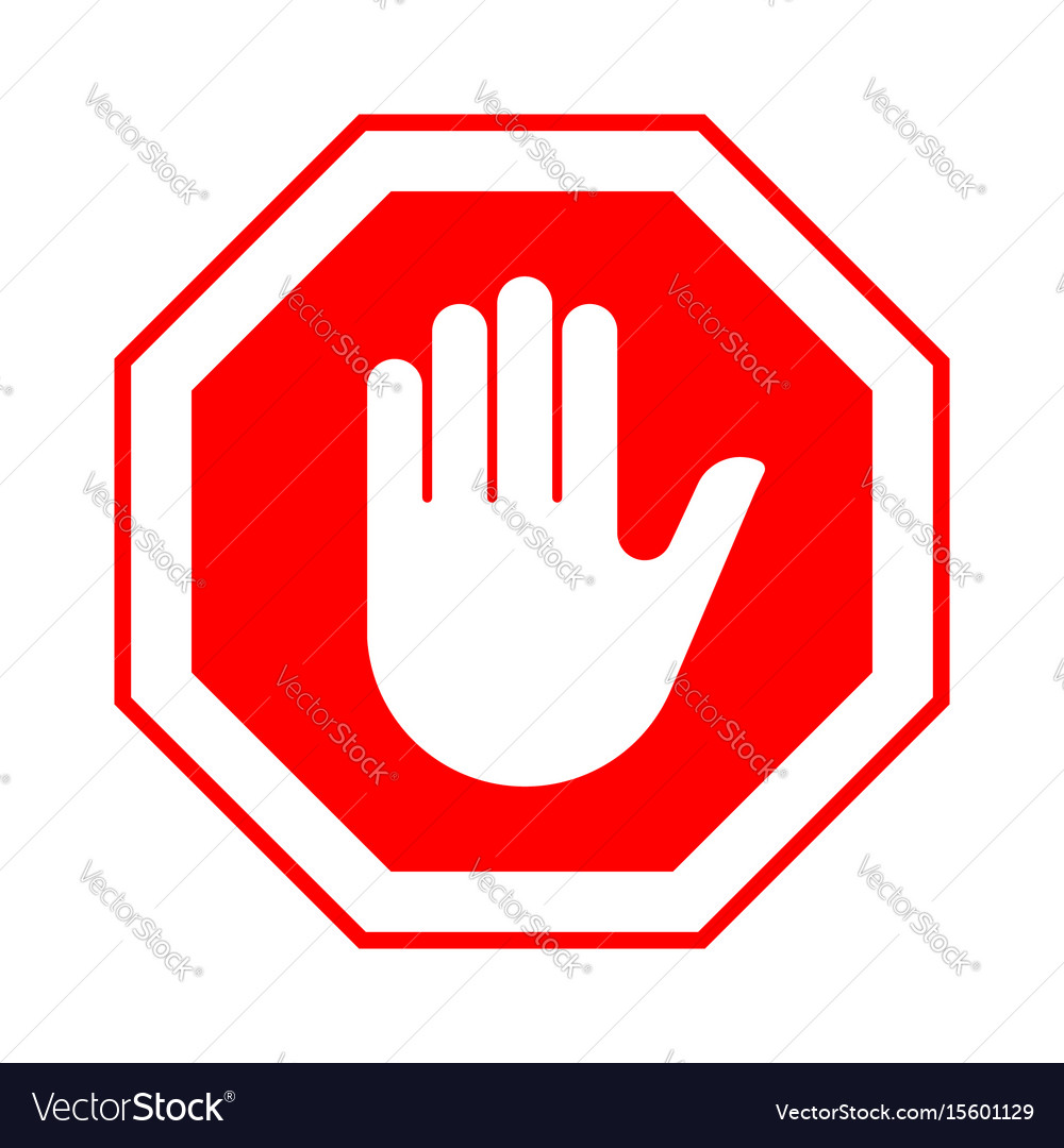 stop do not enter stop red sign with hand vector image clip art stop sign free clip art stop sign emoji