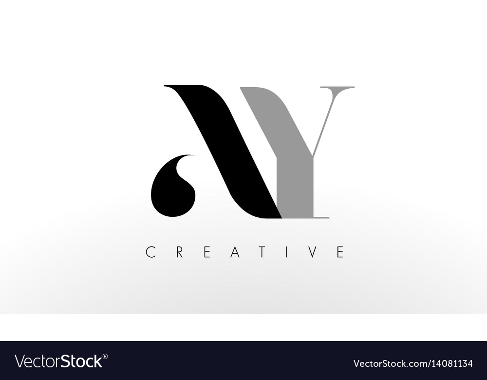 A Y Letter Logo Design Creative Ay Letters Icon Vector Image