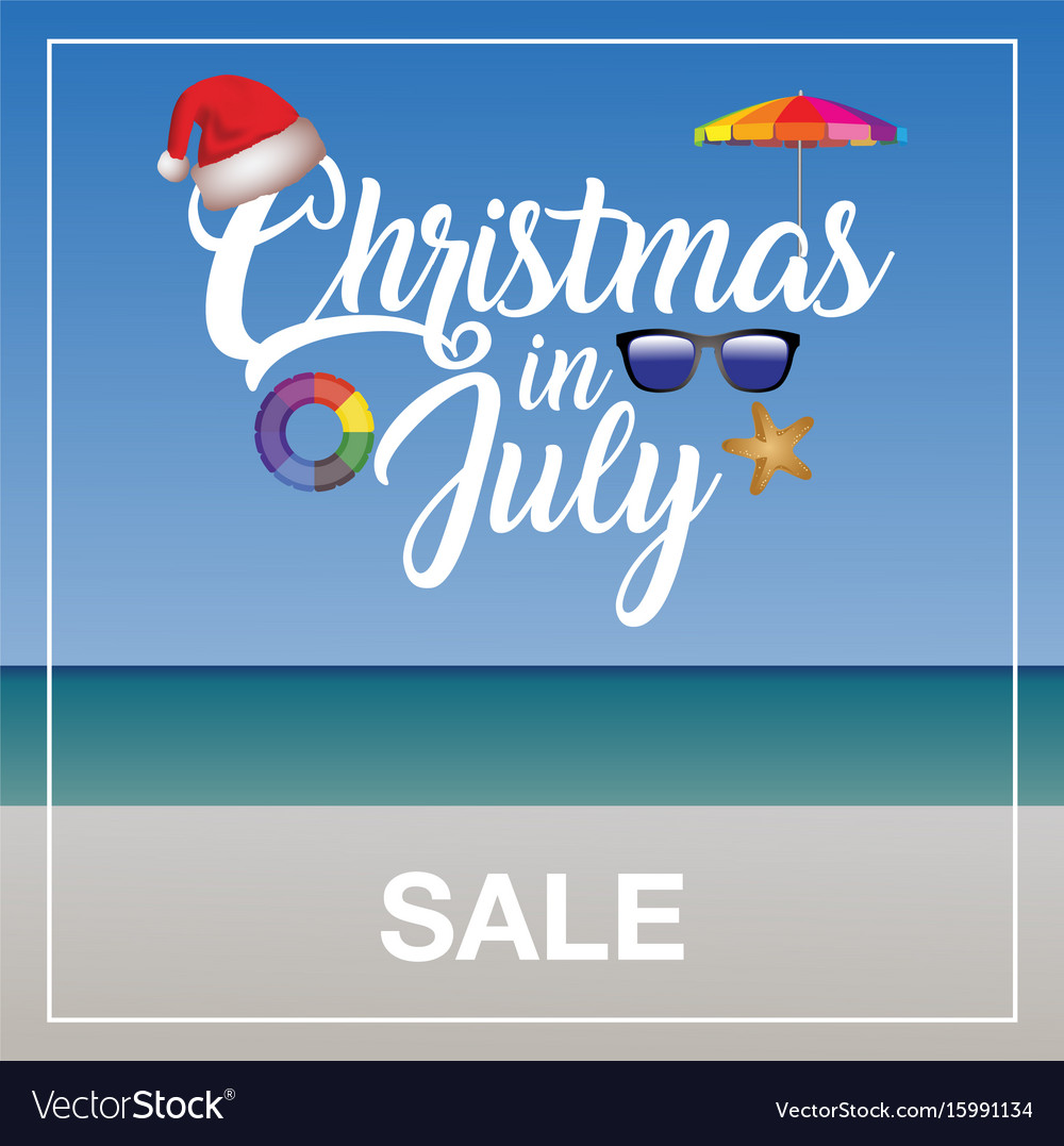 Christmas In July Free Image.Christmas In July Sale Marketing Template