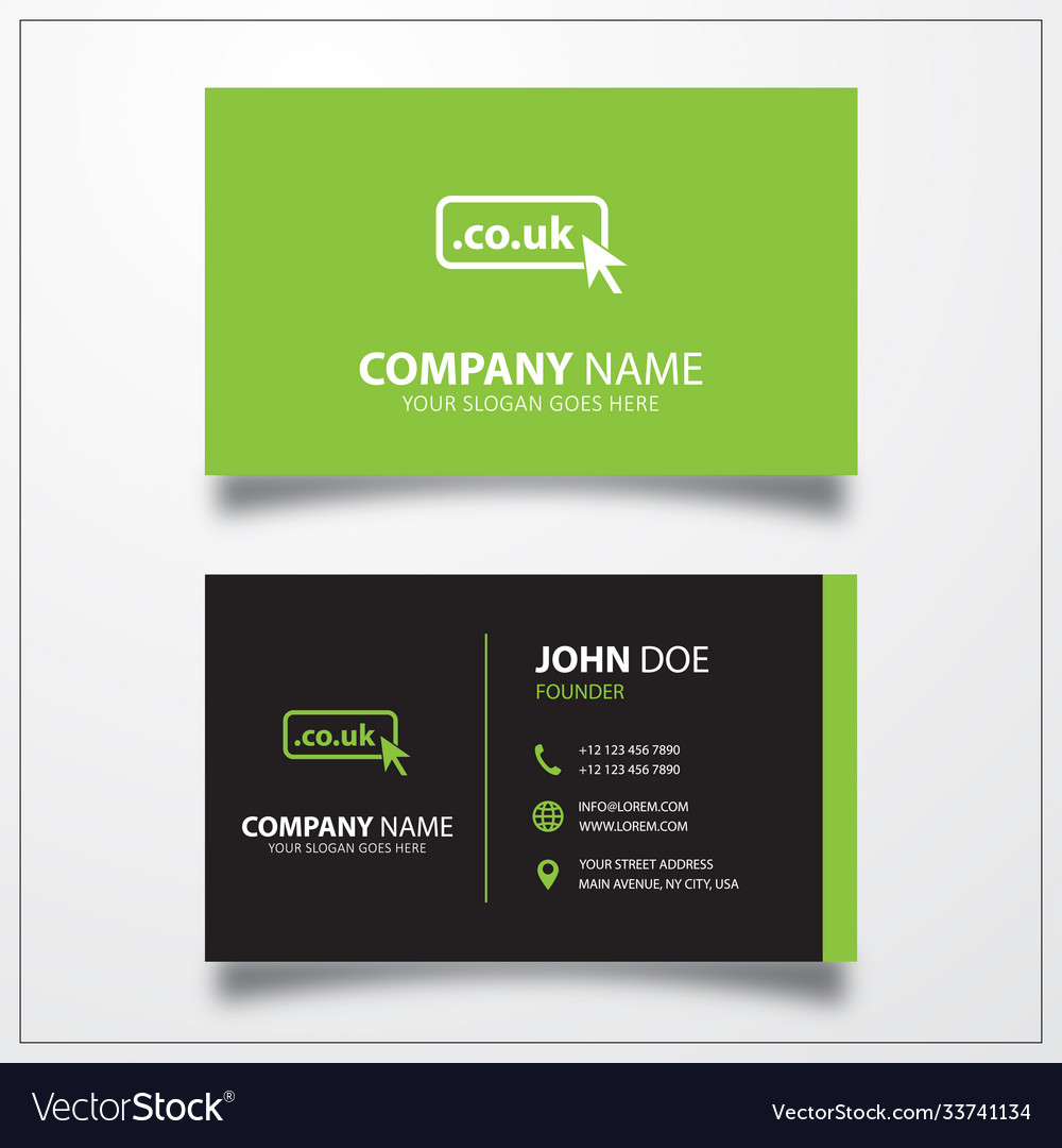 Domain co uk icon business card template