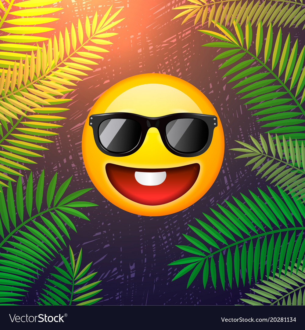 Hello summer poster summer party design template vector image