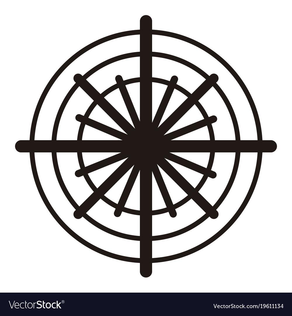 Isolated snowflake icon