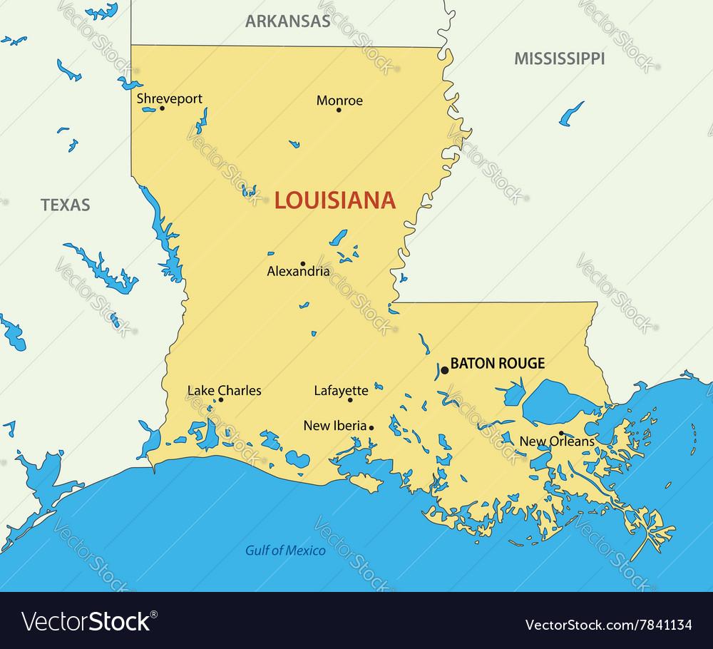 Louisiana - map